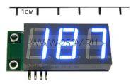 Миниатюрный цифровой встраиваемый амперметр SAH0012UB-200 -(до 200А) постоянного тока